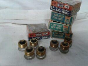 30 vintage time delay screw in fuses 15/20/30 amp unused Eagle 125v fuse box  USA | eBayeBay