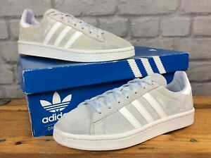 ADIDAS-LADIES-UK-5-EU-38-VAPOUR-BLUE-CHALK-WHITE-SUEDE-CAMPUS-TRAINERS-LD