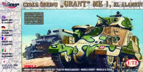 I El Alamein Mirage Hobby 728004-1:72 Panzer Grant Mk