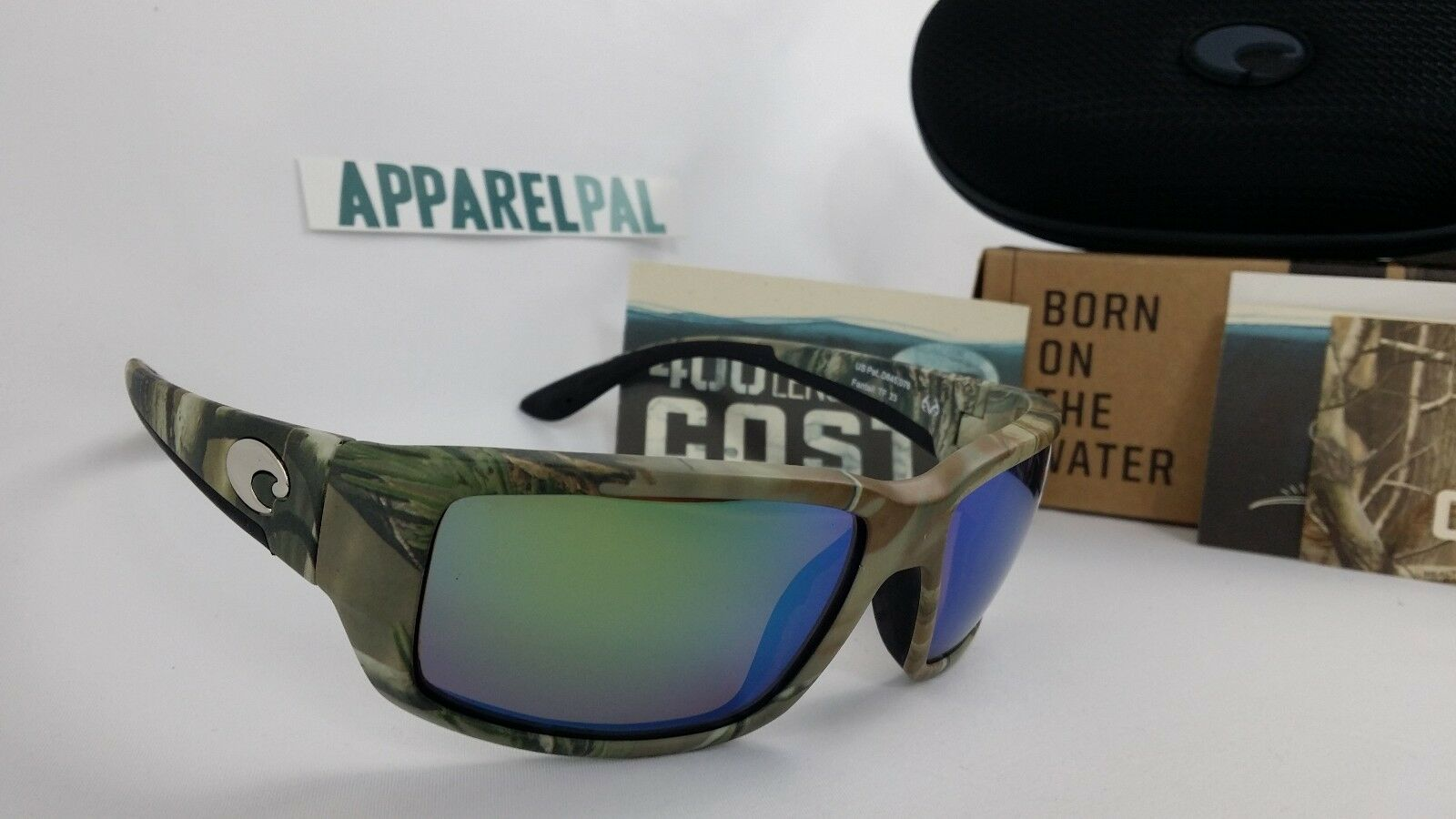 New Costa del  Mar Fantail Polarized Sunglasses Realtree AP Camo Green 400G Glass  with 100% quality and %100 service