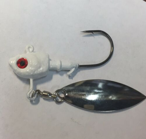 3//8 Oz Underspin Jig 4//0 Mustad Ultra Point Hook Ball Bearing Swivel 3.5 Wil 3
