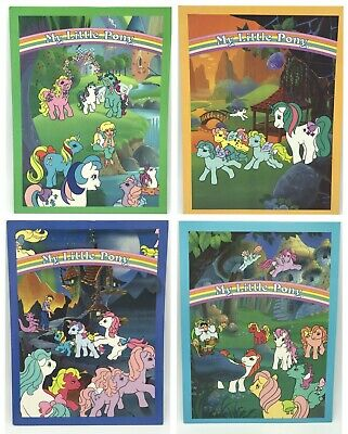 G1 My Little Pony 2 Pocket Folders Set 4 Megan Danny Molly Spike Moochuck Galaxy