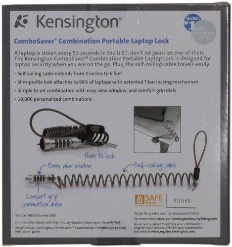 GENUINE KENSINGTON Combosaver Combination Laptop Lock K64560US New Sealed