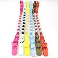 Latest Baby Pacifier Chain Infants Boys Grils Hanging Soother Clip Dummy Holder