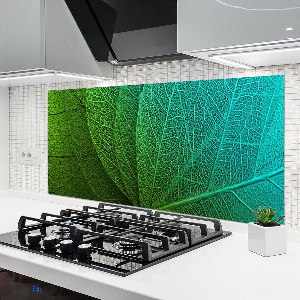 Crédence de cuisine en verre Panneau Panneau Panneau 140x70 Floral Feuilles Abstraites 1b479a