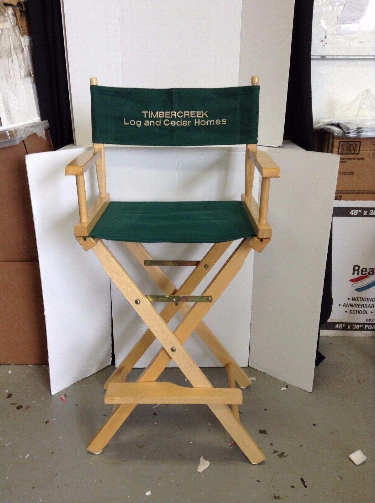2 Barras De Fiesta Plegable Timbercreek Maquillaje Cabello Portátil 44  silla de director de la película