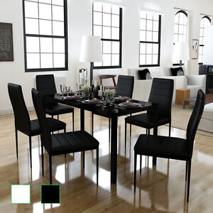 essgruppe sitzgruppe esstisch mit 6 st hlen k chen tisch. Black Bedroom Furniture Sets. Home Design Ideas