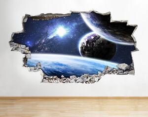 A114-espacio-de-la-tierra-Sol-Planetas-pegatina-pared-vinilo-3d-habitacion-ninos
