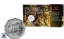 Österreich 5 Euro Silber 2012 Handgehoben: Prosit Neujahr Musikfreunde Wien