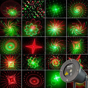 20 gobos rc garten licht xmas licht led laser projektor dj b hnenbeleuchtung ebay. Black Bedroom Furniture Sets. Home Design Ideas