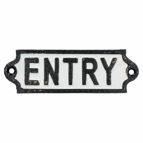 Cartel placa de hierro fundido de entrada puerta pared Estaca de tienda Pub Hotel Bar Cafetería introducir