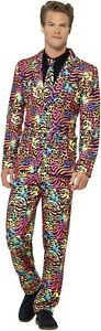 Men-039-s-Funky-Neon-Fancy-Dress-Stand-Out-Costume-Suit-Pride-Festival-LGBT-Stag-Fun
