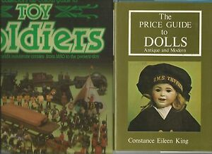 Price-Guide-to-DOLLS-by-King-1977-HcDj-TOY-SOLDIERS-by-Rose-1985-HcDj-2-BOOKS
