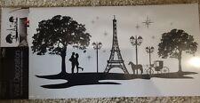 Paris Skyline (Large) Wall Sticker With Jewels By Home Decor (58cm X 30cm)