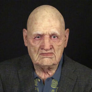 Another Me The Elder Halloween Holiday Funny Masks Supersoft Old Man Adult Mask.