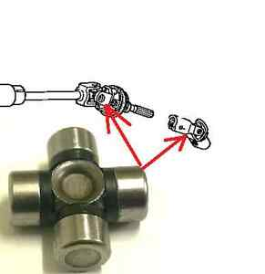 steering column shaft universal joint 16x39 for kia mazda. Black Bedroom Furniture Sets. Home Design Ideas