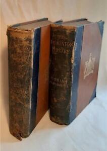 1889 The Badmington Libary Fishing Books x 2 Pike & Coarse Fish, Salmon & Trout