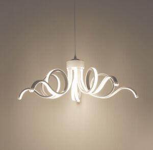 Lampadario A Led Moderno.Dettagli Su Lampadario Led Moderno Fiore Intrecciato 4000k Luce Naturale 50w
