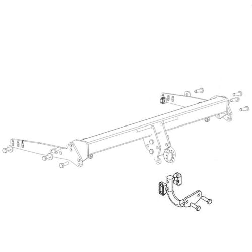Flange Tow Bar Witter Towbar for Seat Leon Estate ST 2017-2020