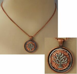 Tree Of Life Necklace Copper Pendant Celtic Jewelry Handmade New