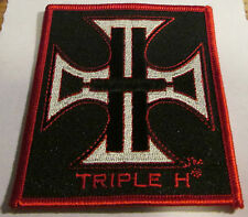 TRIPLE H COLLECTABLE RARE VINTAGE PATCH EMBROIDED 2007 WWE WWF