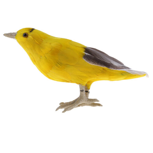 Yellow Bird Ornament Oriole Statues Realistic Animal Sculpture Home Decor