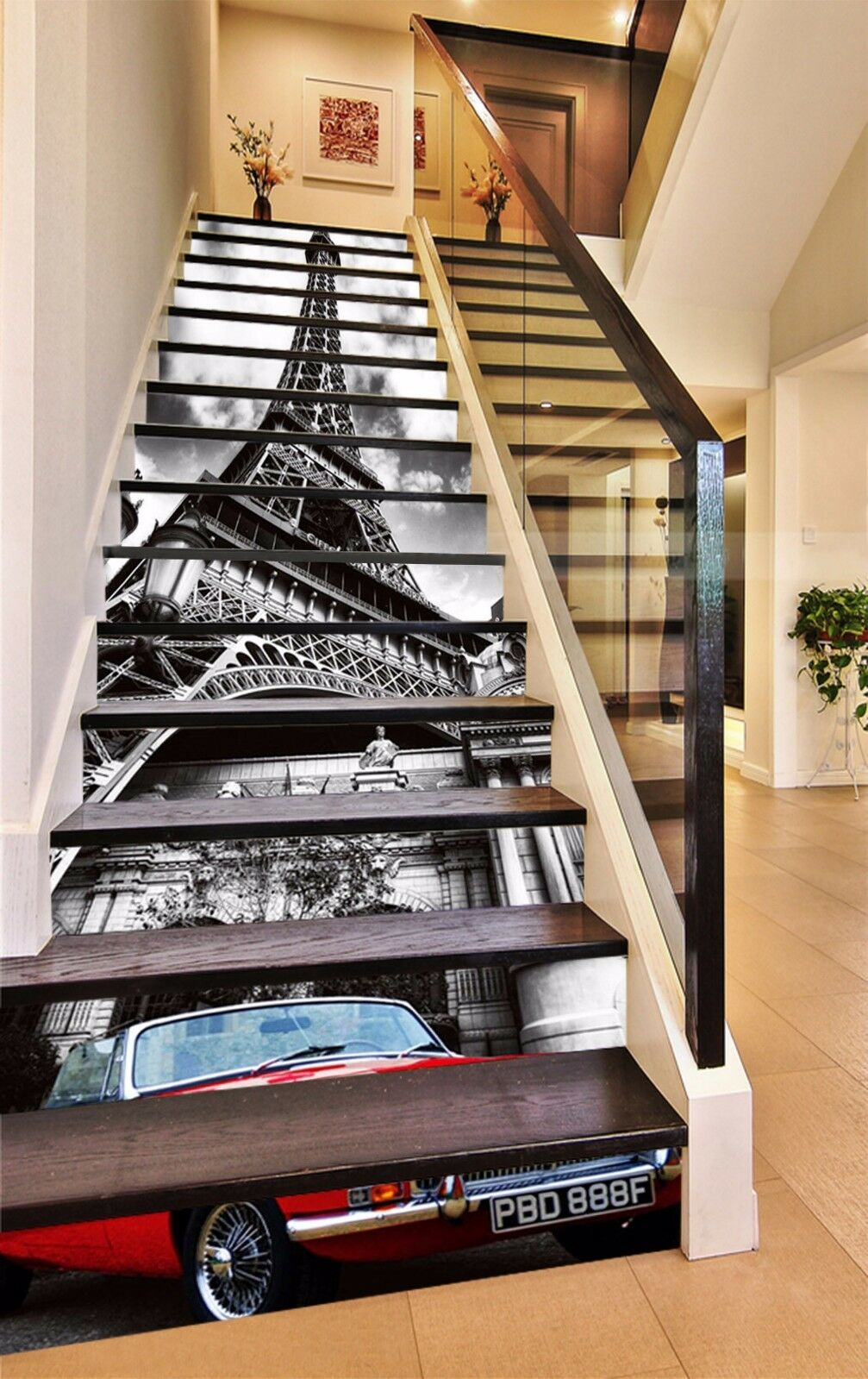 3D Eiffel Tower 536 Stair Risers Decoration Photo Mural Vinyl Decal Wallpaper AU