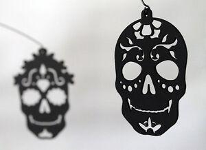 Dia de los Muertos Day of the Dead Black Skull Halloween Modern Hanging Mobile