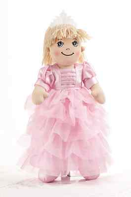 "Adorable Apple Dumplin' Cloth 14"" Doll by Delton - Pink Princess"