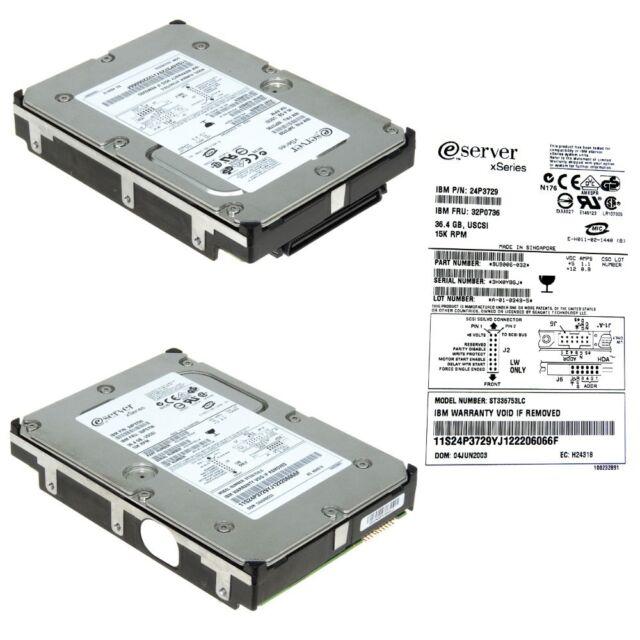 IBM 32P0736 24P3729 36.4GB 15K SCSI Ultra320 8.9cm