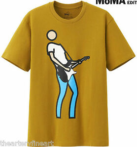 JULIAN-OPIE-x-UNIQLO-039-Bryan-Plays-Guitar-039-SPRZ-NY-Graphic-Art-T-Shirt-L-NEW