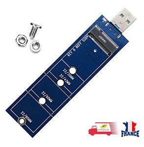 Adaptateur SSD M2 vers USB 3.0 clé B M.2 SATA NGFF pour 2230 2242 2260 2280 M2