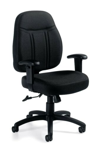 Lot of 10 Black OTG11651 Tilter Chair with Arms 66158596826