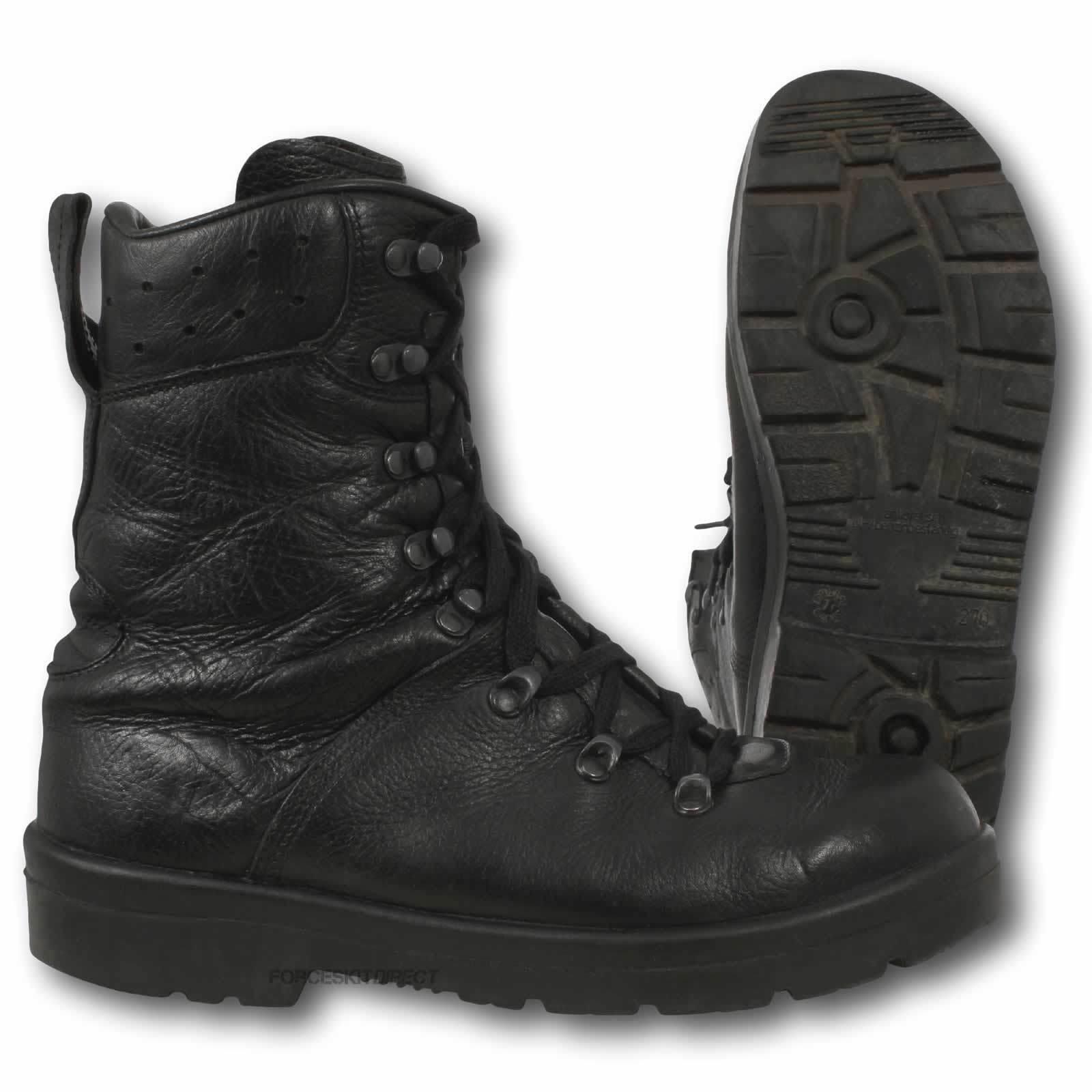 German Army Para Boots Genuine Military Surplus Black Leather Paratrooper Combat