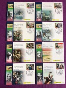 2011-Cartoline-Filateliche-FDC-034-8-PROTAGONISTI-DELL-039-UNITA-039-D-039-ITALIA-034