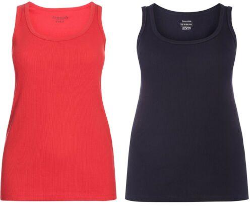 EVANS PURE COTTON Ribbed Vest Top Essential Cami Plus size avail