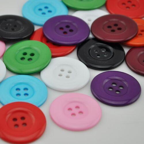 Upick 20pcs Big Plastic Overcoat Button Cloth sewing Appliques Lots 33mm PT18