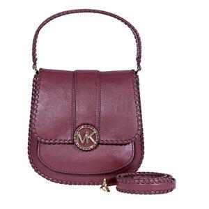 0aa9c9214dd2b1 Image is loading Michael-Kors-Lillie-Medium-Leather-Messenger-Bag-Oxblood-