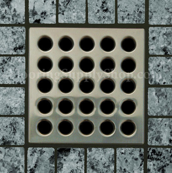 EBBE Antique Pewter Finish   Square Tile Shower Drain ESD-AP