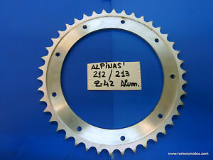 BULTACO-ALPINA-FRONTERA-CORONA-REAR-WHEEL-SPROCKET-ALUMINIUM-NEW-PARTS