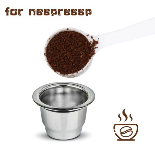 Silver Stainless Steel Refillable Reusable Coffee Capsule Pod For Nespresso