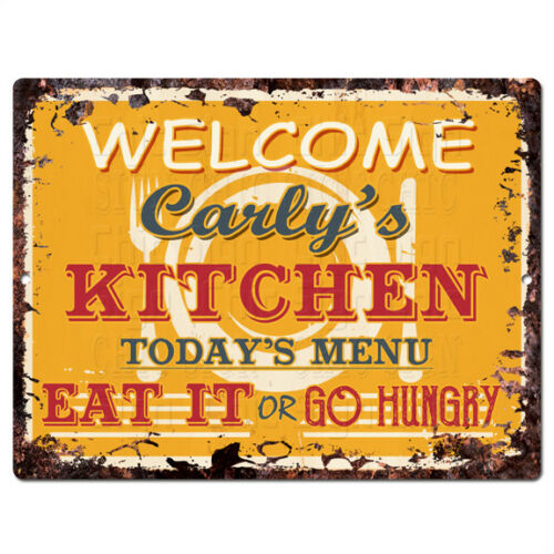 PPKM0874 CARLY/'S KITCHEN Rustic Chic Sign Funny Kitchen Decor Birthday Gift