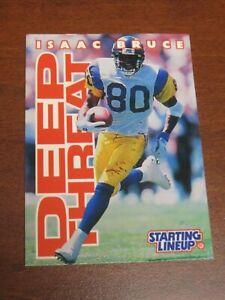 Isaac Bruce 1996 Kenner Starting Lineup Card - St. Louis Rams
