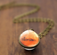 Solar-System-Pendants-Necklace-Galaxy-Planet-Necklace-S-Double-Sided-Glass-Dome thumbnail 4