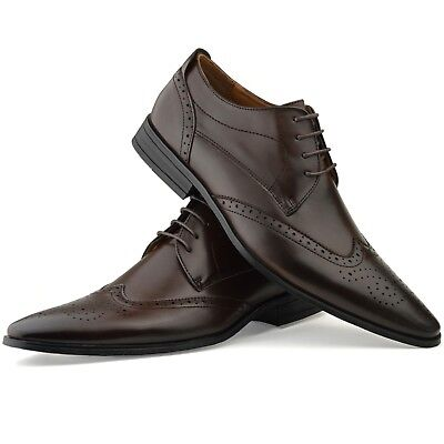 Klug Mens New Casual Brown Faux Leather Formal Designer Shoes Designer Fashion Boys