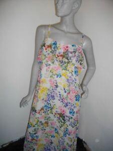 Rrp Coloured M Size Lined Maxi Mango Drapey Multi Floaty Dress New Sun POn1wfqc
