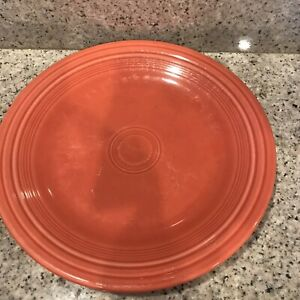 "fiestaware 10.5"" Dinner Plate , persimmon orange,  Plate Homer Laughlin,"
