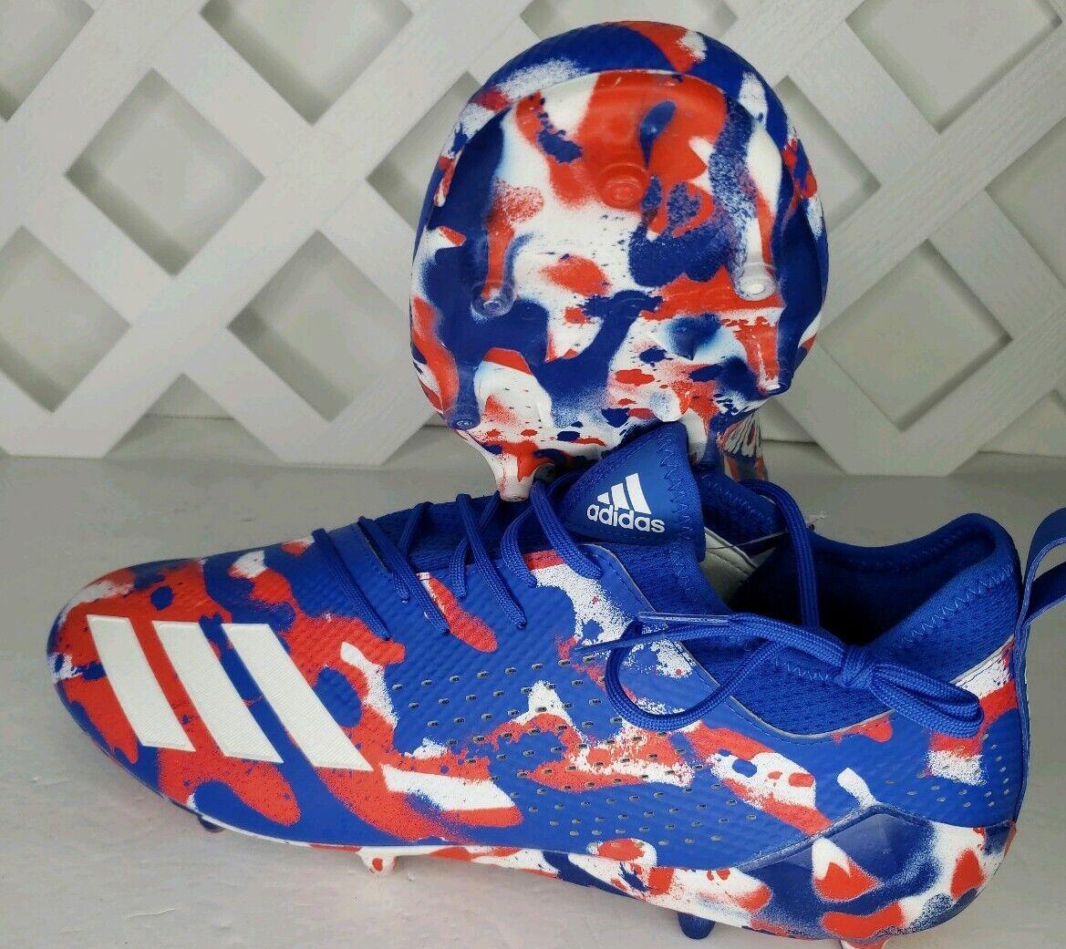 Adidas Adizero 5 Star 7.0 C Red White blueee Football Cleats Size 17 DB0623 New