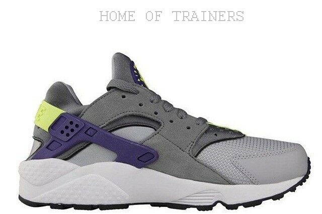 30da06e15b Nike Air Huarache Wolf Grey Purple Girls Women's Trainers All Sizes (PTI)