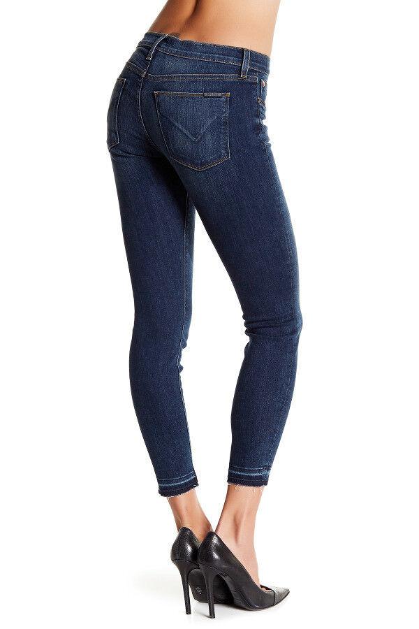 NWT HUDSON Krista Ankle Super Skinny Mid-Rise Jeans Raw Hem Size 31 Express Wash